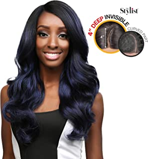The Stylist Synthetic Lace Front Wig Deep Lace Curved Part Wavy Wander (OT27)