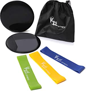 VitalTemple Premium Resistance Bands Set - Exercise Fitness Kit for Home Workouts of Abdominal, Booty and Leg Strength