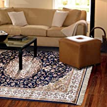 Al Salem Carpet Brilliance Collection Carpet Classic Tradition Area Rug 160 CM X 230 CM Navy Blue