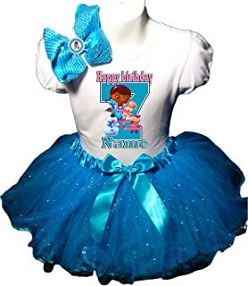 Doc McStuffins Birthday Party Dress 7th Birthday Turquoise Tutu Outfit Shirt