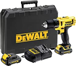 DeWalt 12V 10mm Subcompact Drill Driver with Soft bag, Yellow/Black, DCD710C2P-B5, 3 Year Warranty
