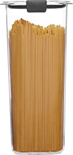 Rubbermaid 1994226 Container, BPA-Free Plastic, 8.1 Cup Brilliance Pantry Airtight Food Storage, Open Stock, Spaghetti