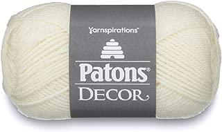 Patons Decor Yarn - (4) Medium Worsted Gauge - 3.5oz - Winter White - For Crochet, Knitting & Crafting