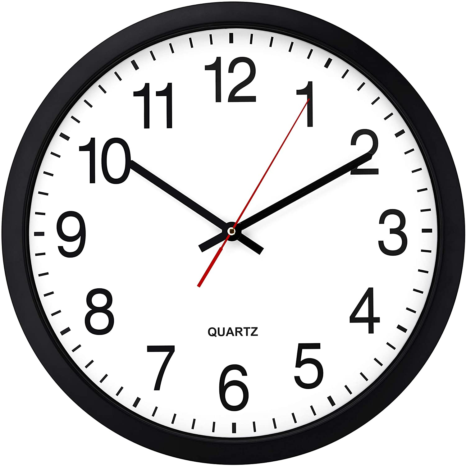 Bernhard Products Black Wall Clock Silent Inch Sale special price - Non Bombing free shipping Ticking 16