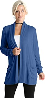 Long Sleeve Cardigan Sweater for Women with Pockets - Made in USA