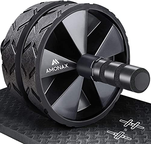 Amonax Roue Abdominale Convertible, Ab Roller Wheel, Roulette Abdominaux Exercice pour Abdominaux, Roue de Fitness po...