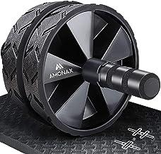 Amonax Convertible Exercise Wheel Roller Buikroller Ab Wheel Ab Roller met Grote Kniemat voor Buikspiertraining. Buiktrain...