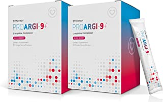 2 Boxes: ProArgi-9 Plus Mixed Berry Single Serves: Nitric Oxide & L-Arginine Dietary Supplement with L-Citrulline for Heal...