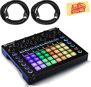 Novation Circuit Sequencer Bundle with MIDI Cables and Austin Bazaar Polishing Cloth