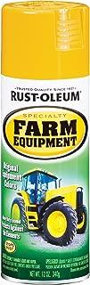Rust-Oleum 7449830 Specialty Farm Equipment Spray Paint, 12 oz, Caterpillar Yellow
