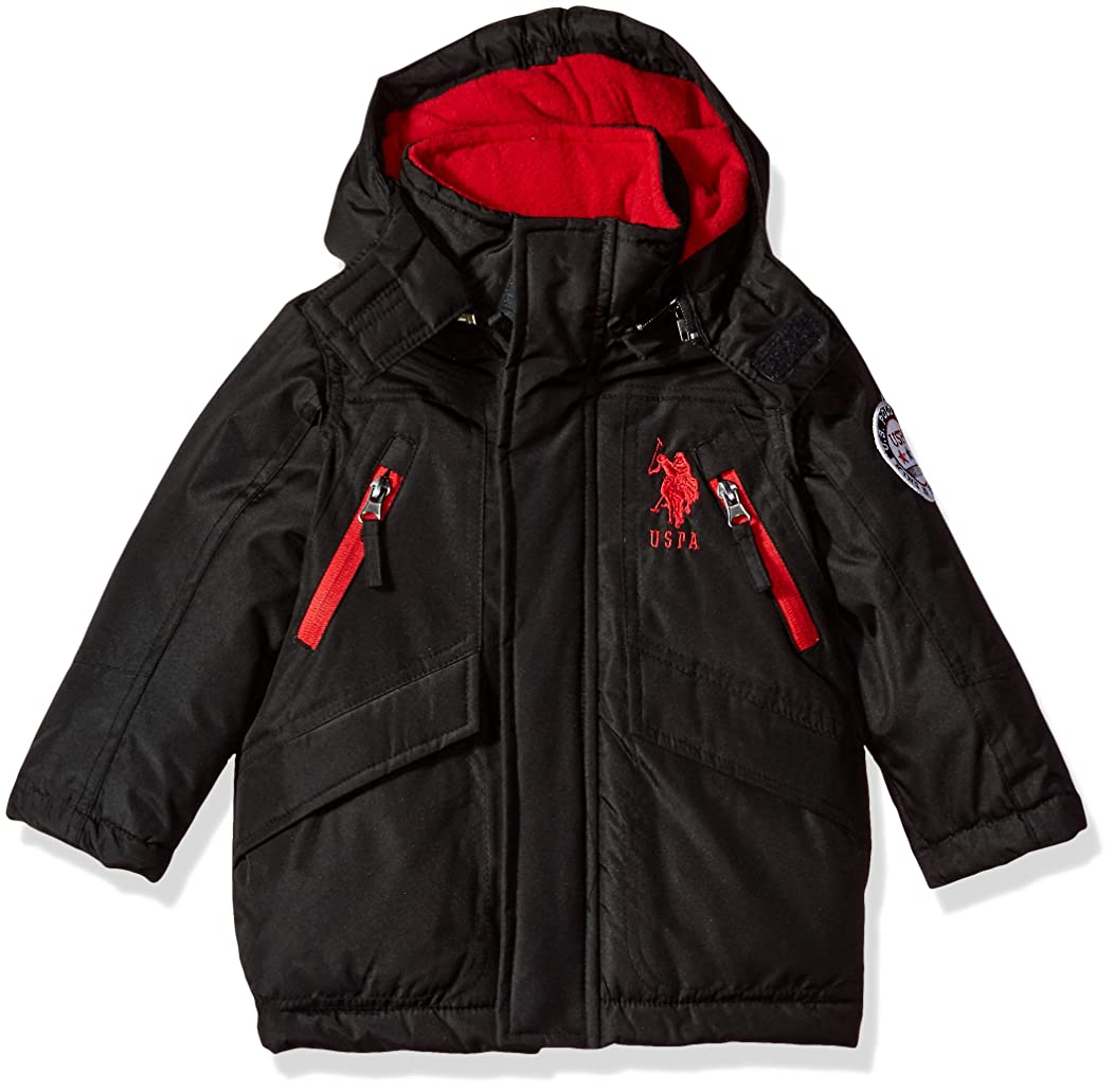 US Polo Association Toddler Boys' Outerwear Jacket (More Styles Available), UC09-Heavy-Black, 3T