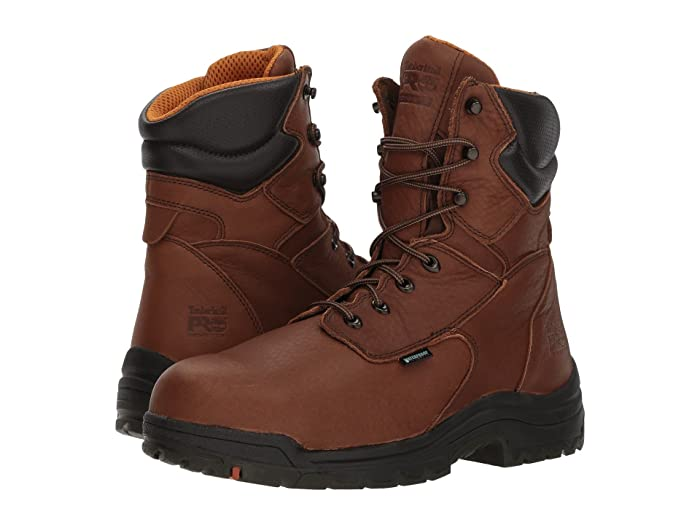 Timberland PRO  Titan 8 Waterproof Safety Toe (Cappucino Full-Grain Leather) Mens Work Lace-up Boots