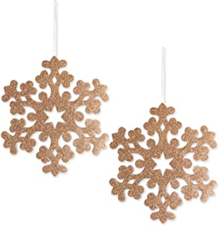 DII Large Hanging Snowflakes with Golden Sparkle for Holiday Door & Wall Decoration, Enhance Your Décor for Home, School, Office, or Party (10.8L x 12.2