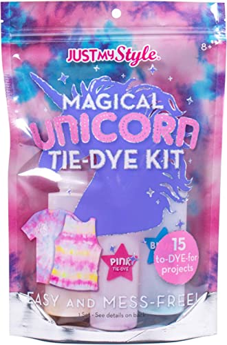 Just My Style Magical Unicorn Tie-Dye by Kit Horizon Group USA,Create 15 DIY Tie Dye Projects.Kit Includes Gloves,Col...