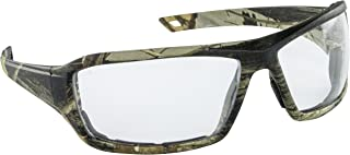 SAS Safety 5550-01 CAMO Safety Glasses with Clear Lens, Dry Forest