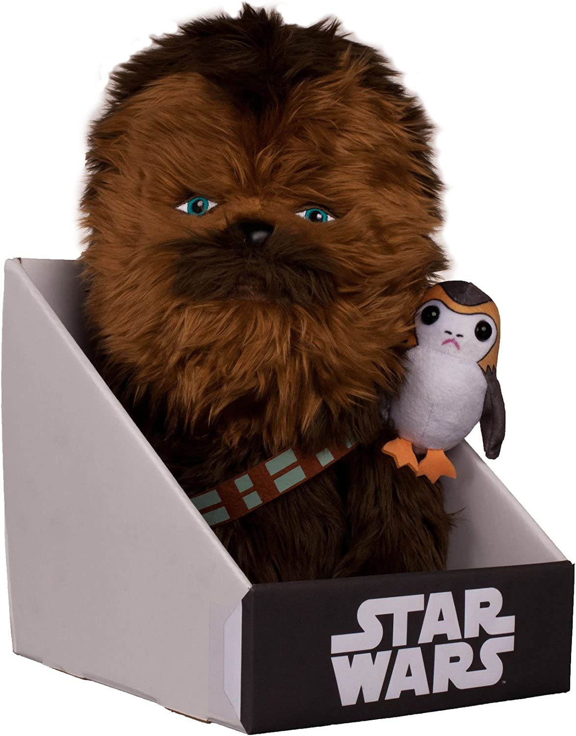 Comic Images Large (12 ) Super-Deformed Plush Star Wars Episode VIII Chewbacca with PORG Action Figure