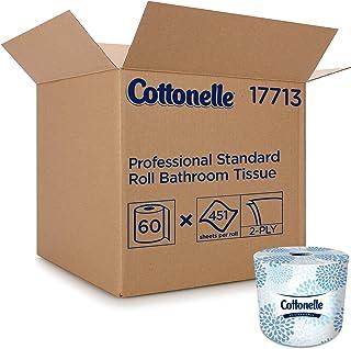 Cottonelle Professional Bulk Toilet Paper for Business (17713), Standard Toilet Paper Rolls, 2-PLY, White, 60 Rolls/Case, ...