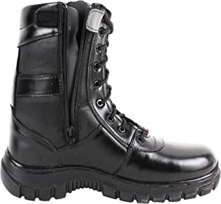 SSG Men's High Ankle Zipper Commando Leather Boots