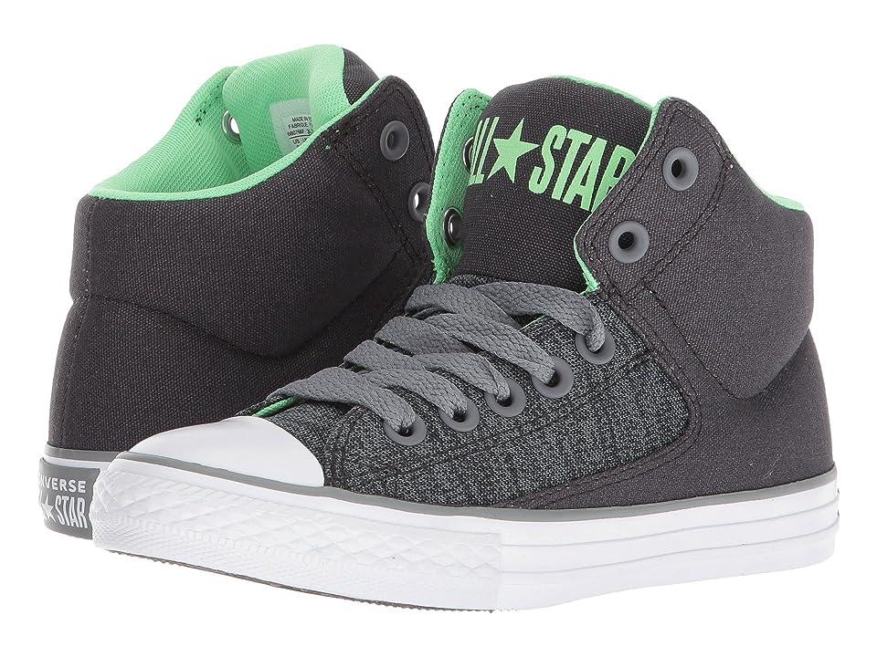 Converse Kids Chuck Taylor(r) All Star(r) High Street Heather Textile Fundamentals Hi (Little Kid/Big Kid) (Almost Black/Cool Grey/White) Boys Shoes
