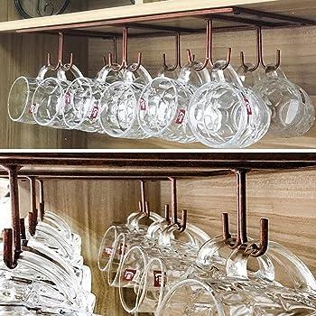 Amazon.com: FURVOKIA Retro Home Storage Mug 12 Hooks,Under ...