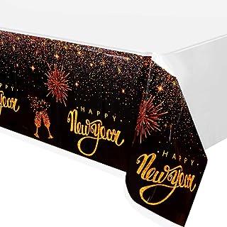 FZR Legend 3 Pack New Years Eve Party Supplies مفرش طاولة 2020 - غطاء طاولة بلاستيكي للاستعمال مرة واحدة | لامع ذهبي سعيد ...