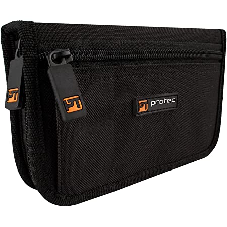 Protec Trumpet/Small Brass Multiple (4-Piece) Nylon Mouthpiece Pouch with Zipper Closure, Model A221ZIP