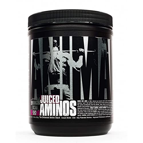 Animal Juiced Aminos - 6g BCAA/EAA Matrix Plus 4g Amino Acid Blend for Recovery and Improved Performance - Grape- 30 Servings