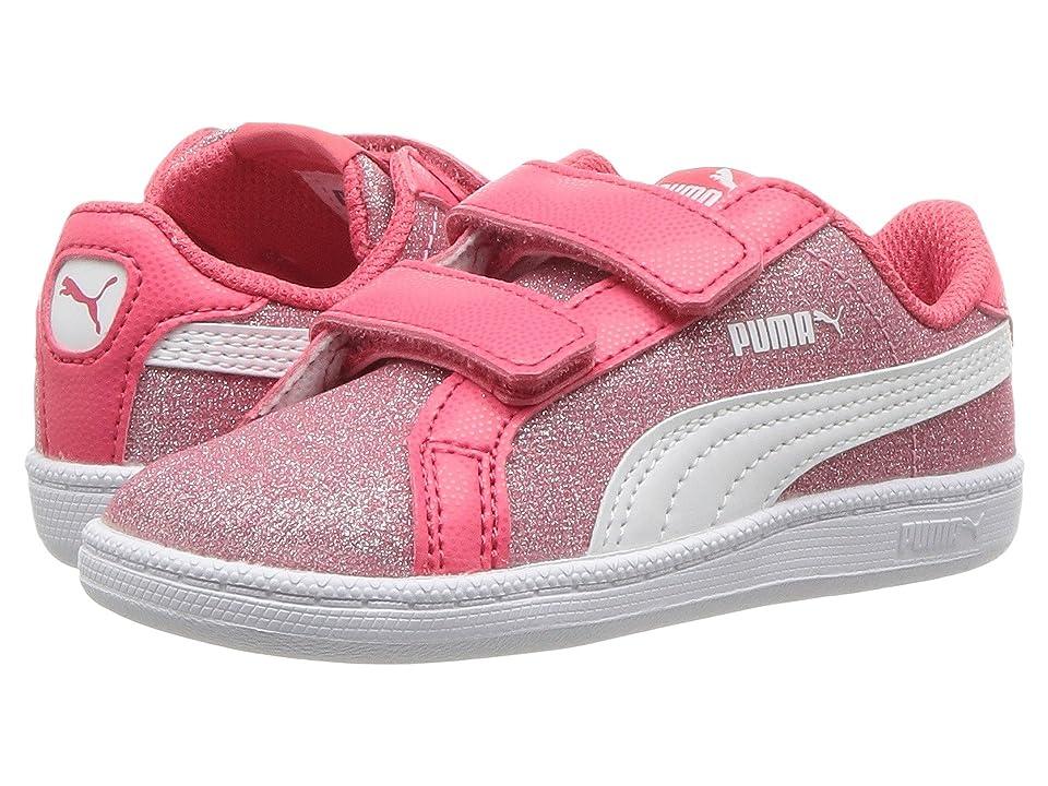 Puma Kids Smash Glitz Glamm V (Toddler) (Paradise Pink/Puma White) Girls Shoes