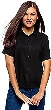 Best black short sleeve button down shirt womens Reviews