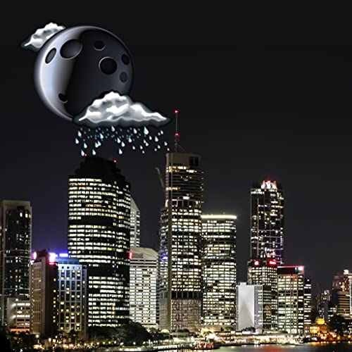 Cidade no widget do tempo da noite
