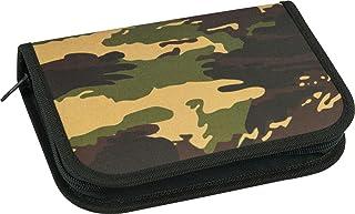 Eberhard Faber 577533 - etui dla uczniów Camouflage, 32-częściowe wypełnione, posortowane pod względem koloru (zielony/nie...