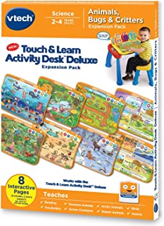 VTech Touch and Learn Activity Desk Deluxe Expansion Pack - Animals, Bugs and Critters (Renewed)