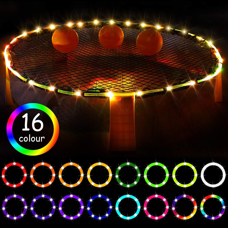 Waybelive LED Hoop Lights for Blinngoball Game,Spike Game,Remote Control Rim LED Light Compatible with Blinngoball Game,Spike Game, Slammo Ball, Strike Ball Game,