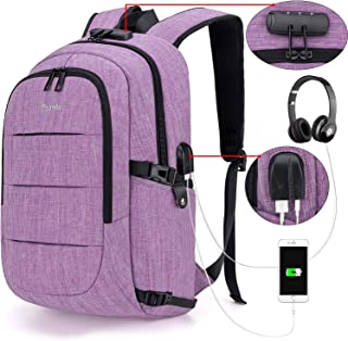 Tzowla Business Laptop Backpack Water Resistant Anti-Theft College Backpack with USB..
