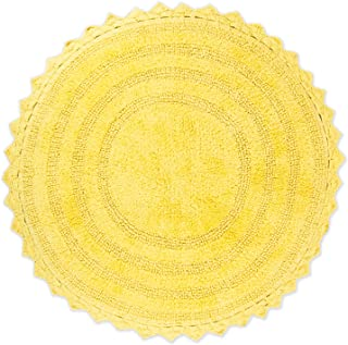 DII Ultra Soft Spa Cotton Crochet Round Bath Mat or Rug Place in Front of Shower, Vanity, Bath Tub, Sink, and Toilet, 28