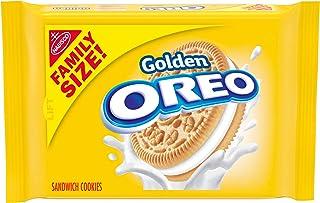 OREO Golden Sandwich Cookies, Family Size, 19.1 oz Packs