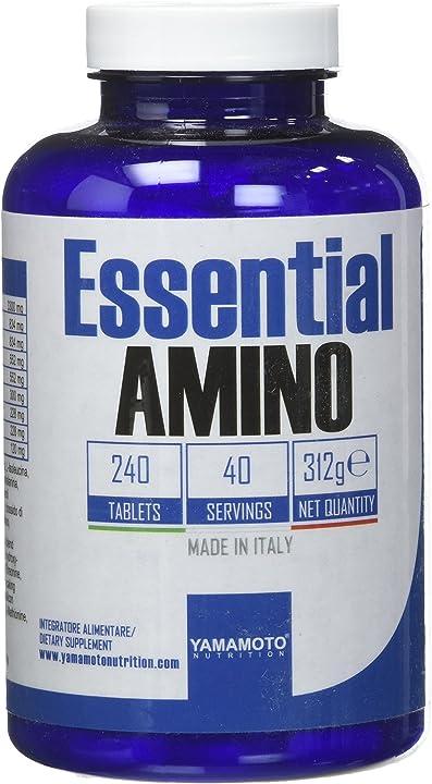 Amminoacidi yamamoto nutrition essential amino integratore di amminoacidi essenziali 240 compresse P36255