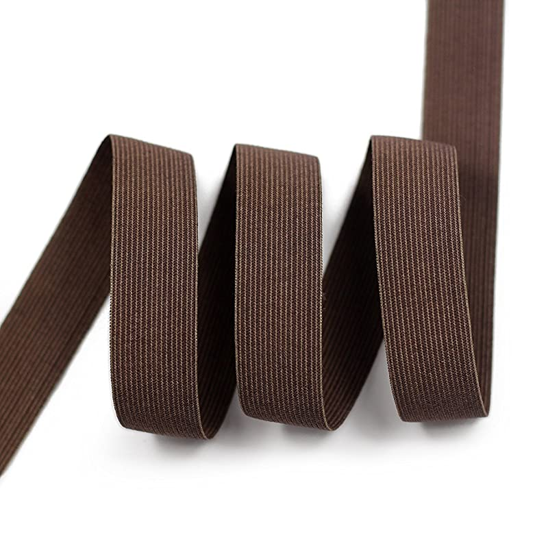 Knitted Woven Elastic Cord ,Brown,3/4