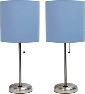 powder blue lamp shade