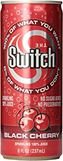 The Switch Sparkling Juice, Black Cherry, 8- Fl. Oz Cans (Pack of 24)