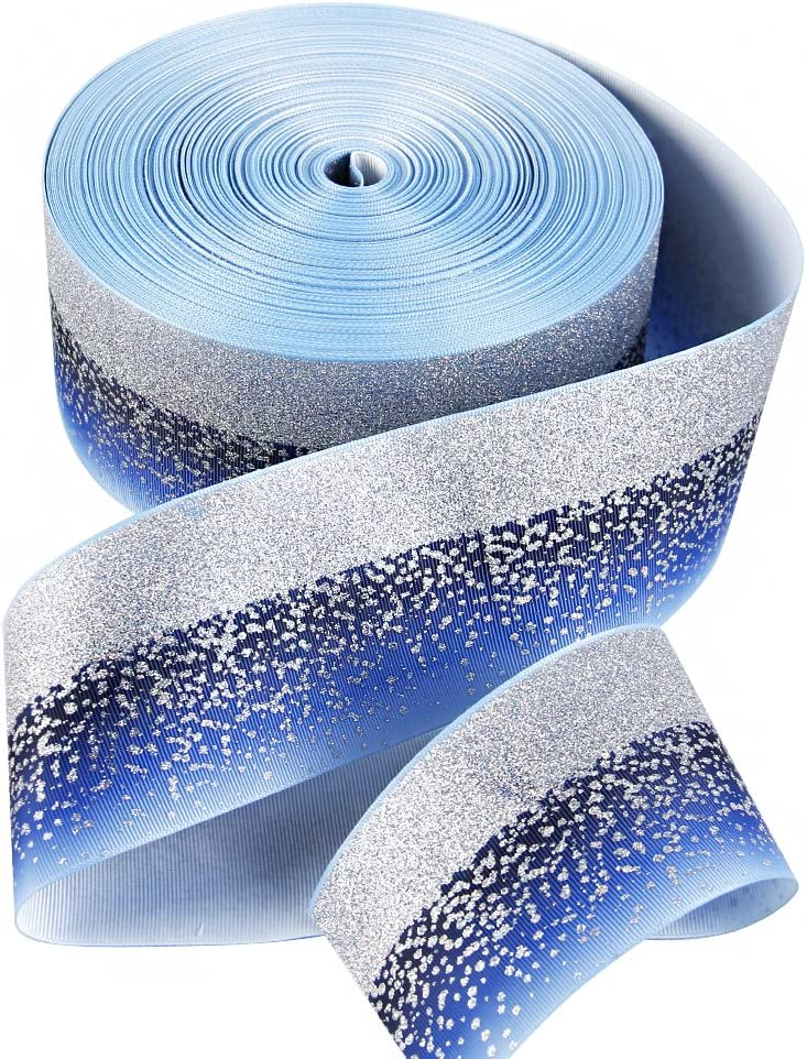 4-Yard 78-Inch Glitter Swirl Grosgrain Ribbon