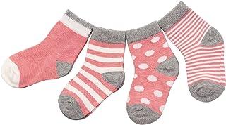 DEBAIJIA, 4 Pares Bebé Calcetines Algodón 0-36 Meses Respirable Calcetin Para Niños Niñas Cómodo Absorber el Sudor Suelta Plana