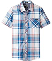 O'Neill Kids - O'Neill Plaid Short Sleeve Woven Shirt (Big Kids)