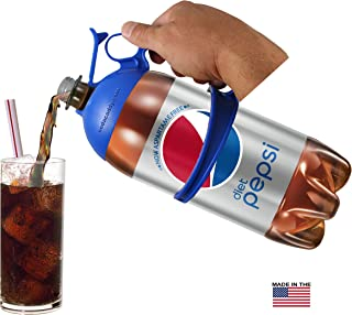 Soda Caddy - (2pk) - 2 Liter Bottle Handle (2 pack - Blue & Blue)