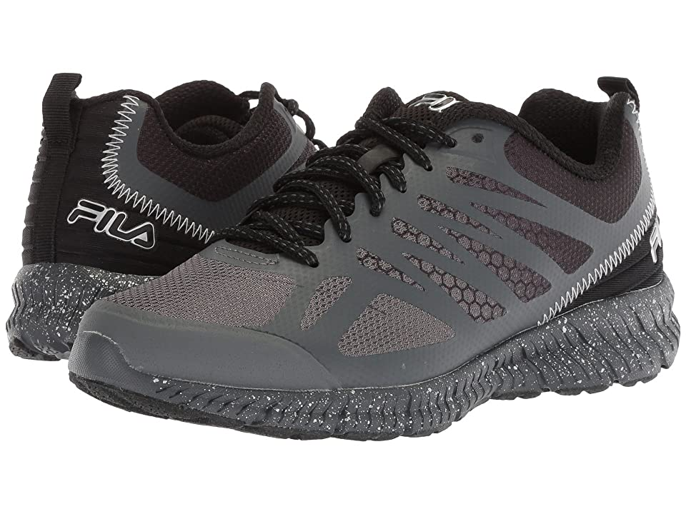 9375b82f7895 Fila Memory Speedstride Trail (Dark Shadow Black Metallic Silver) Men