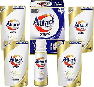 【洗剤ギフト】 アタックZERO 400g*1本 つめかえ360g*4袋 (抗菌+プラス 24時間部屋干し臭を防ぐ)