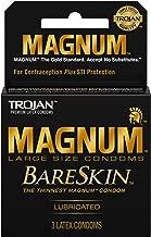 Trojan Magnum Bareskin Male Condoms, 3 Count by Trojan
