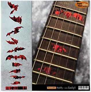 Fret Markers for Guitar & Bass Inlay Sticker Decals - Vampire Bloody Bat