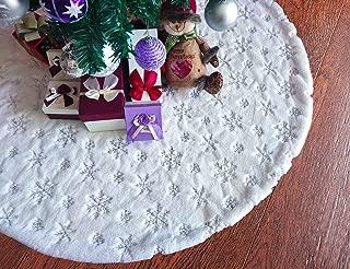 silver tree skirt christmas