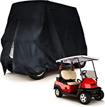 Party Bay 4 Passenger Golf Cart Cover Quality Heavy Duty fits Easy EZ GO Yamaha Club Car Tomberlin Weather Proof Weatherproof UV Protection Dust Playthru Black Silver tan